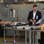 PG Sittenfeld with Revolutionary Rotisserie owner Nicholas Pesola