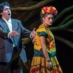 Ricardo Herrera as Diego Rivera and Catalina Cuervo as Frida Kahlo (Photo courtesy Michigan Opera Theatre)