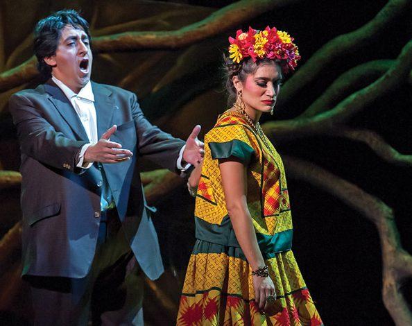 Ricardo Herrera as Diego Rivera and Catalina Cuervo as Frida Kahlo (Photo courtesy Michigan Opera Theatre)