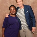 Sharahn Monk of the Cincinnati Regional Chamber with Abby Wambach