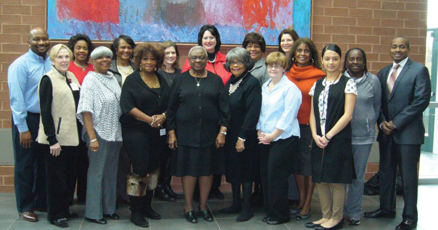 Gala committee members: (front) Susan Wyder, Merri Gaither Smith, Paulette Hammons, Dolores Lindsay, Charlotte Powell, Susan Morin and Solimar Jimenez; (second row) Melvyn Heard, Miriam West, Carole Cutter-Hawkins, Angela Laman, Susanne Tulloss, Carole Rigaud, Melanie Crowe, Future Hicks, Donna Lindsay-Thomas and James Cowan
