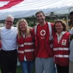 Cincinnati Red Cross board members Suzanne McNabb, David Meyer, Marijke Woodruff, James Hagen, CEO Trish Smitson and Marcus Taylor