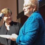 Jane Keller of CYC and Meier Bauer, Assistance League president