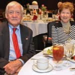 Artist John Ruthven and Jan Stahl, charter member and past president of the Assistance League of Greater Cincinnati