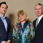 Dr. Hugh Herr with Beth Ryan and Lyceum committee member Ken Ryan