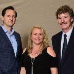Dr. Hugh Herr with Terri Tomaszewski and husband Matt Tomaszewski, who experienced the benefits of robotic-assisted surgery