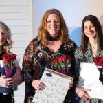 Top three fundraisers: Emily Bell, Danielle Bischoff and Elizabeth Paff