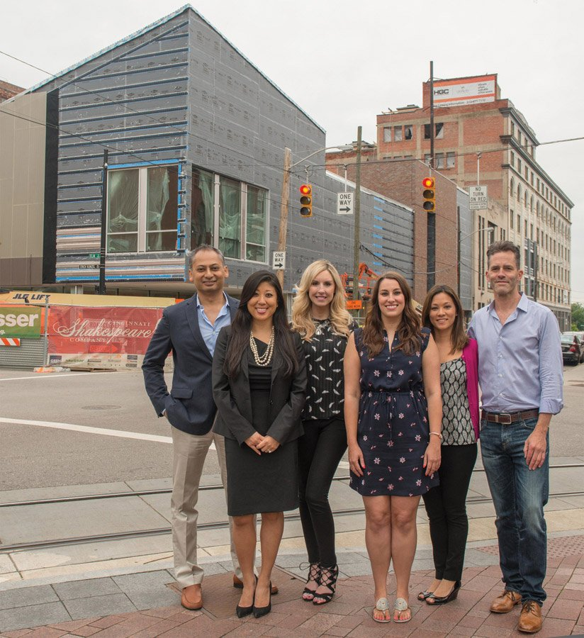 Members of CSC Philanthropy Board Associates: Asif Alikhan, Jen Chung, Michelle Klein, Liz Fry, Kim Sheridan and Mike Hoeting. Not pictured: Clint Watson, Jamie Humes, Lauren Cripe, Paul Gomez, Caleb LaCourse and Megan Dittman