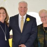 Alison and Tim Warning, Rey of Light chairs, with DePaul Cristo Rey President Sister Jeanne Bessette