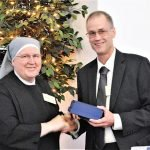 Mother Francis with honoree William Krallman