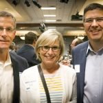 Tripp and Margaret Eldredge with Andrew Curran