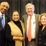 Edgar Smith Jr. and Dr. Toni Robinson Smith with Tad and Sue Lawrence