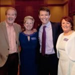 Alzheimer's Association staff members Diana Bosse (second from left) and Annemarie Barnett with Bob Goen and Bob Herzog