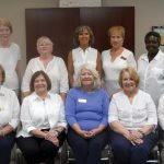 Executive board members: VP fundraising events, Janet Adams; VP student services, Betty Rothgeb; president, Nancy Purcell; executive VP, Margaret Archangel; VP community awareness, Carolyn Lamping; (back) VP grants, contributions, donated goods, Laura Atkinson; VP hospital services, Mary Irish, VP donors, members, volunteer management, Linda Myers; VP membership, Carol Mardis; secretary, Roseanna Nelson. Not pictured: VP domestic violence, Gail St. Pierre; treasurer, Shirley Schlueter.