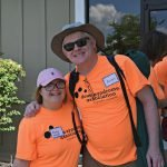 Volunteers Abby Fovel and Andy Baker