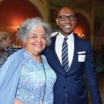 Honoree Gwendolyn Joan Wilder with Enquirer president Eddie Tyner