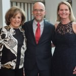 Honorary gala chair Karen Abel, Beacon honoree Bob Mecum and gala chair Dr. Kate Bennett