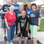 Team Manny's Mob with NF Hero Manny Evans: (front) Manny Evans, Laura Cleavinger; (middle) Sharon Smith, Bert Smith (mom), Presley Smith; (back): Ralph Smith, Ken Smith (dad), David Cleavinger (Sarah Thomsen Photography)