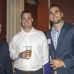 On-The-Rise young professional program participants Aaron Senich of TriHealth and Tim Schirmann and Chris Quigley of Messer Construction