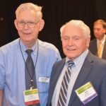 Roger Grein with honoree Jack Adam Credit: Lisa Desatnik