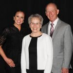 Kelly Keene, representing Northern Kentucky University, with honorees Dolores Lorenz and Robert Lorenz Credit: Paula Norton