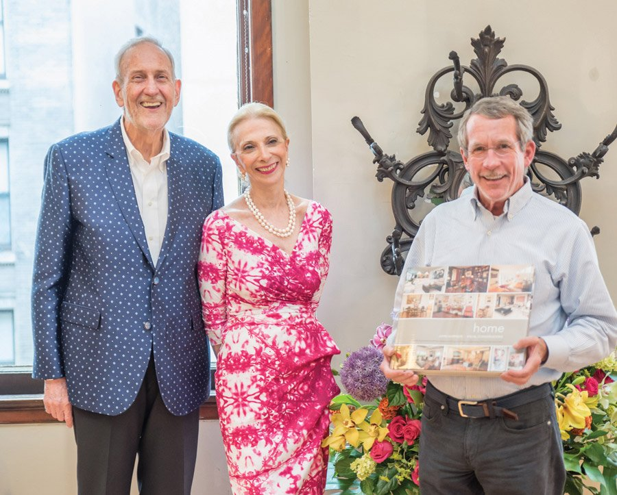 John Harrison, Joyce Elkus and Tim Maloney of the Haile Foundation
