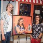 Artist Marlene Steele with Prayrna