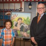 Bryson and artist Daniel Brooks Grove