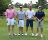 The winning afternoon foursome: Jonathan Friedman, Bill Stacey, Patrick Shiels and Bill McCarthy