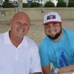 Former Reds player Ron Oester with Alex Rulon