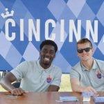 FC Cincinnati players Mélé Temguia and Aaron Walker