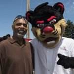 Reds Hall of Famer Dave Parker with the UC Bearcat