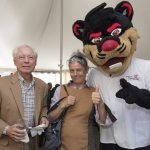 The UC Bearcat with Walter Becker and daughter Merritt Becker