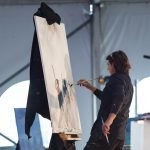 In less than 10 minutes, artist Mark Thesken created a painting that brought in $3,600.
