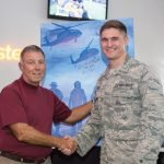 Col. Danny R. McKnight and Cadet Alex Mount