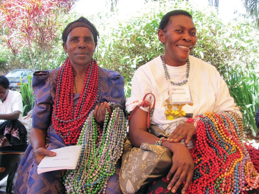 Ugandan women from Bead for Life's entrepreneurial training