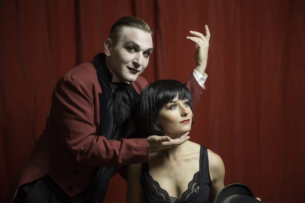 Matthew Wilson (Emcee) and Hannah Gregory (Sally Bowles) in Cabaret