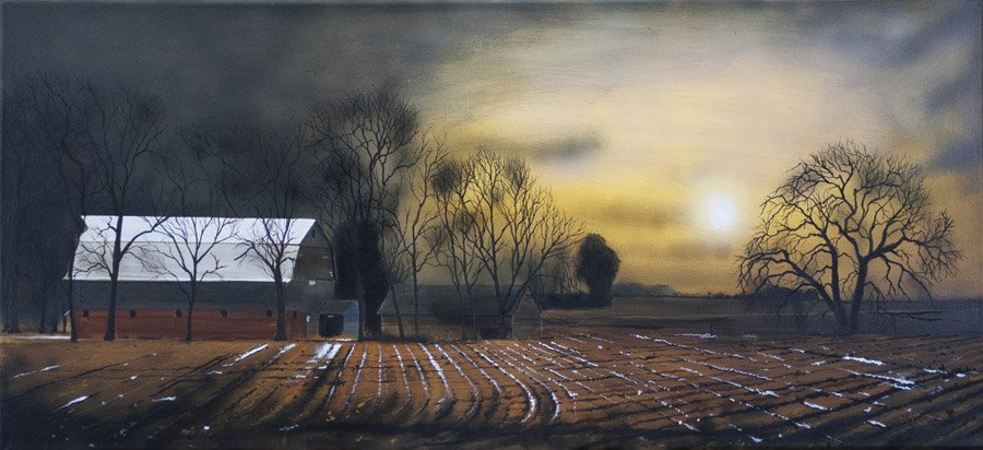 """2016 Best of Show winner David L. Hunt, with """"The Last of the Apple Trees"""""""