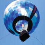 The Gentle Breeze Co. balloon rises.