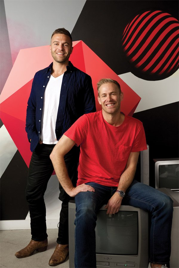 Andrew Salzbrun and Josh Heuser of Agar. (Photo by Tina Gutierrez)
