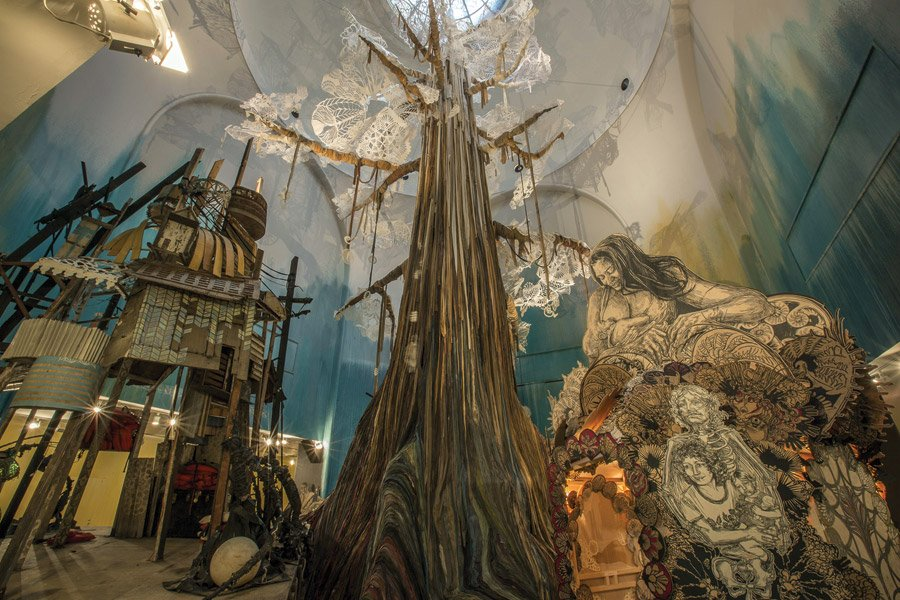 Swoon installation at the Broklyn Museum, 2014. (Photo by Tod Seelie)