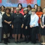 Fiftieth anniversary committee: (front) Susan Wyder, Merri Gaither Smith, Paulette Hammons, Dolores Lindsay, Charlotte Powell, Susan Morin and Solimar Jimenez; (back) Melvyn Heard, Miriam West, Carole Cutter-Hawkins, Angela Laman, Susanne Tulloss, Carole Rigaud, Melanie Crowe, Future Hicks, Donna Lindsay-Thomas and James Cowan