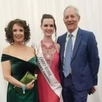 Maureen Kennedy, co-founder of the center; Kathleen Rose O'Donnell, 2016 Ohio Irish Rose of Tralee winner; and Kent Covey, center co-founder