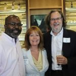 From the Cincinnati Bar Association: John J. Williams, board president; Catherine Glover, executive director; and John Stillpass, board treasurer