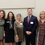 Honoree Carol Wiggers, CASA managers Morgan Zak and Maryanne Foster, honoree Beth Adele Katerberg, ProKids board president John Hands, CASA program director Charlotte Caples and honoree Jim Lake
