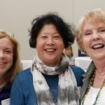 CASA volunteers Donna Salmon, Vivi Chow and Brenda Schumann