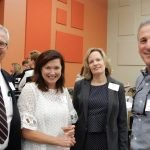 Hamilton County Juvenile Court Magistrate Paul Demott, Sarah Kurtz, Janet Demott and CASA volunteer Don Shuller