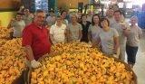VonLehman volunteers helped clean up ducks from the Rubber Duck Regatta.