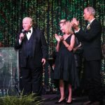 Zoofari chairs John Barrett and Eileen Barrett, Zoo director Thane Maynard