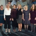 Committee members Katie Coughlin, Julie Ross, Lynne Whang, Beth Kasson, Kelley Carrier, chair Karen McHale, BHS executive director Susan Schiller, Alyson Poling, Megan McCuen and Gail Myers